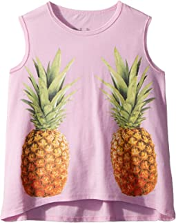 Extra Soft Mirrored Pineapples Tank Top (Toddler/Little Kids)