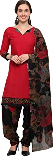 Rajnandini Dark Pink Crepe Salwar Suit For Women (Ready To Wear)(One Size)