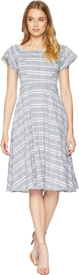 Keenan Woven Tie Back Midi Dress