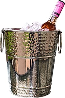BREKX Napoli Hammered Stainless Steel Luxury Wine Ice Bucket - 5 Quart