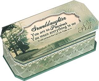 Granddaughter Be Still Petite Belle Papier Musical Keepsake Jewelry Box - Plays Song Friend In Jesus