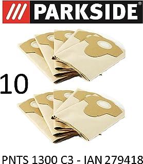 comprar comparacion 10bolsas de aspiradora Parkside 20L pnts 1300C3Lidl Ian 279418marrón 906–05–Parkside mojado aspiradora en seco