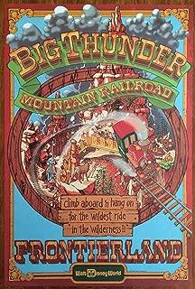 Walt Disney World's Big Thunder Mountain Classic Attractions Poster Art