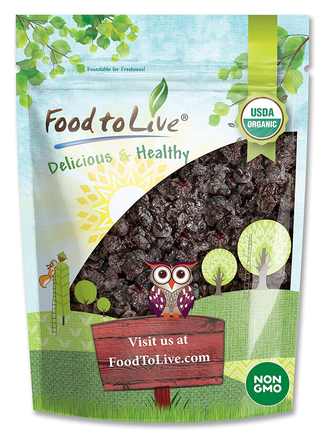 Organic Dried Sour Cherries 2 Pounds - Pitted Fruit Cherry Tucson Mall Bombing new work Non