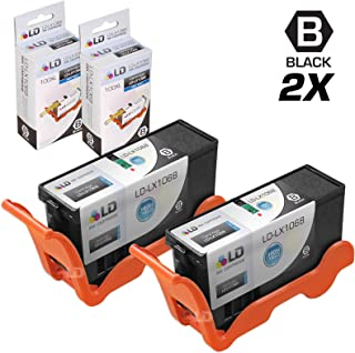 LD Compatible Ink Cartridge Replacement for Lexmark 100XL 14N1068 High Yield (Black, 2-Pack)