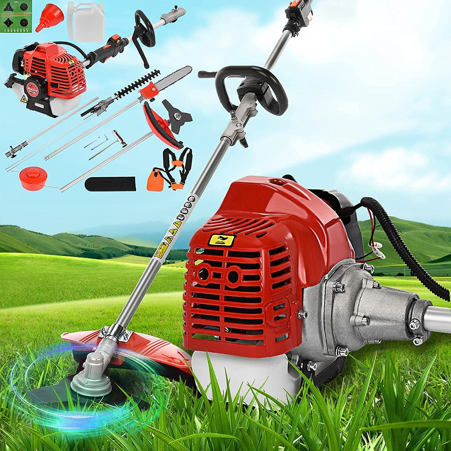 5-in-1 Ranking TOP19 Gas Pole Saw 52cc 2-Cycle Cordless W String Trimmer San Francisco Mall with