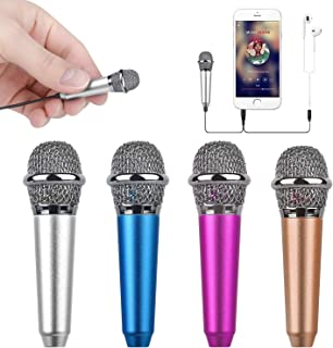 FISHOAKY Karaoke Microphone, Bluetooth Karaoke Machine Kids Portable Mic Player Speaker with LED & Music Singing Voice Recording for Christmas Birthday Home Party KTV Outdoor PoP voice Professional Lavalier Lapel Microphone Omnidirectional Condenser Mic for iPhone Android Smartphone,Recording Mic for Youtube,Interview,Video Wireless Microphone Headset, UHF Wireless Headset Mic System, 160ft Range, Headset Mic and Handheld Mic 2 In 1, 1/8''&1/4'' Plug, For Speakers, Voice Amplifier, PA System-Not Supported Phone, Laptop Hotec Premium Vocal Dynamic Handheld Microphone with 19ft Detachable XLR Cable and ON/Off Switch (Metal Black) (H-W07) Uniwit Mini Portable Vocal/Instrument Microphone for Mobile Phone Laptop Notebook Apple iPhone Sumsung Android with Holder Clip - Silver