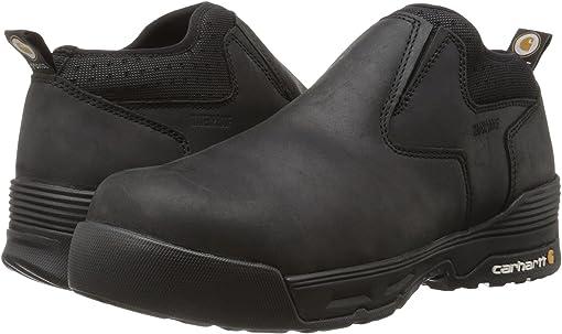 Black Coated Leather