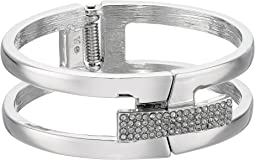 Vince Camuto Link Bracelet with Pave Foldover Clasp