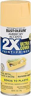 Rust-Oleum 327947 American Accents Spray Paint, 12 oz, Satin Summer Squash
