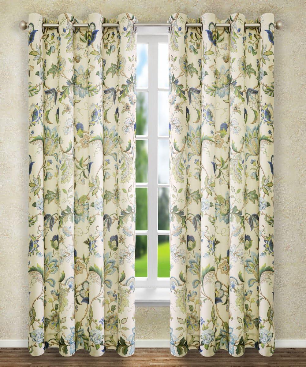 Mesa Mall Ellis Curtain Brissac Grommet Panel Bue Spring new work x 63 50