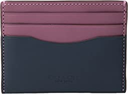 Flat Card Case in Color Block Leather