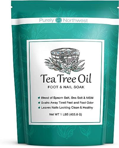 Tea Tree Oil Foot Soak with Epsom Salt - Made in USA, Alleviate Toenail Fungus, Athlete's Foot and Stinky Foot Odors....