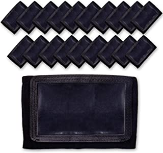 GSM Brands Quarterback (QB) Play Wristband - Youth Size - Pro Football Armband Playbook - 20 Pack (Black)