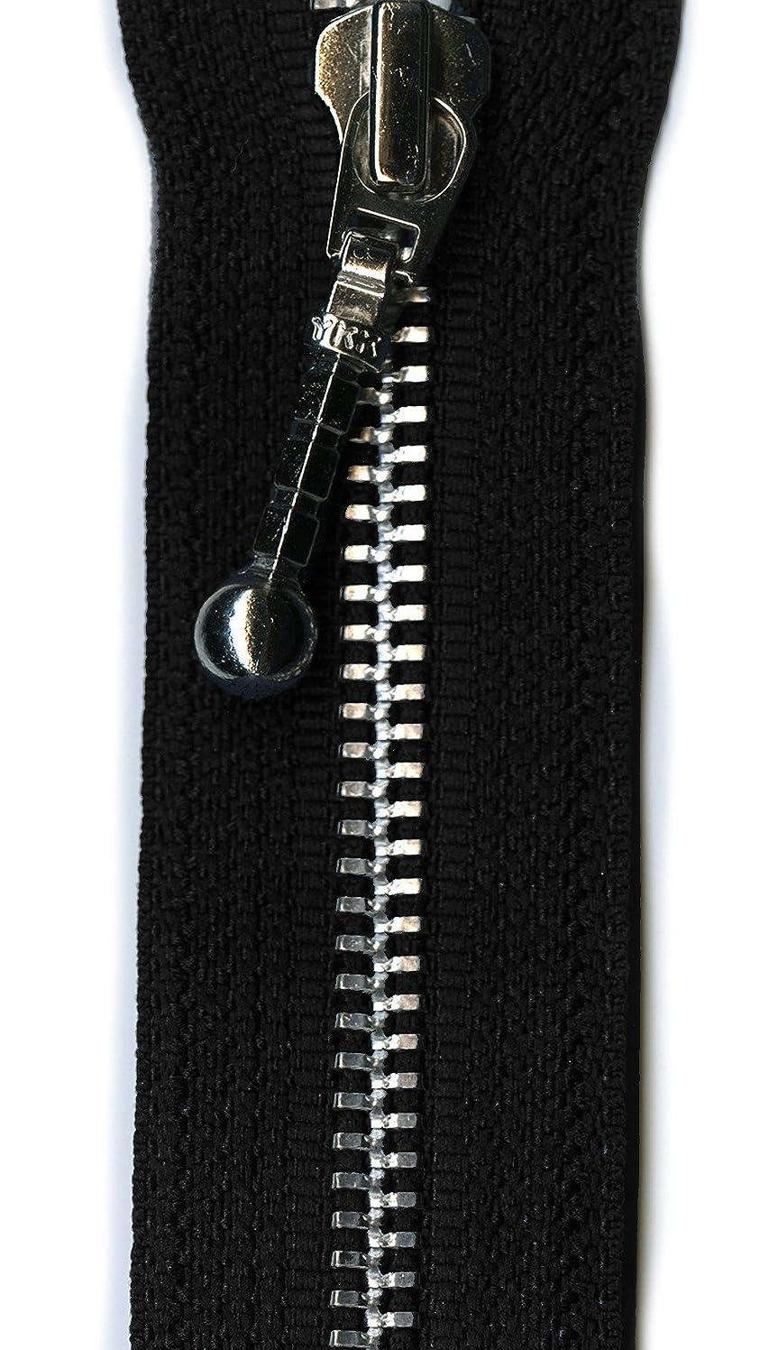YKK Aluminum Decorative 1-Way Separating Zipper, 26