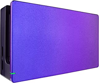 eXtremeRate Custom Chameleon Glossy Faceplate for Nintendo Switch Dock, Purple Blue DIY Replacement Housing Shell for Nint...