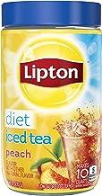 Lipton Iced Tea Mix, Diet Peach, 10 Quart (Pack of 4)