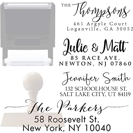 SALE Custom Self Inking Address Stamp Personalized Return Address Stamp Housewarming gifts Family Address Stamp Script Address Stamp AS115