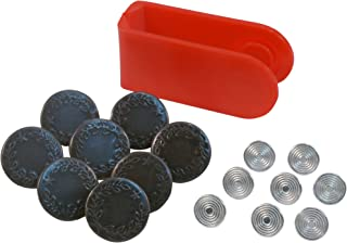 SINGER 00841 Jean Buttons Kit, 8 Sets with Tool
