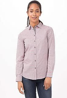 Chef Works Women's Modern Gingham Long Sleeve Dress Shirt