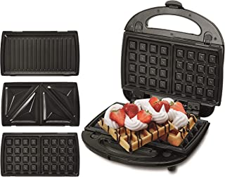 Adler Toaster for Sandwiches 3 in 1 with 1000 W Power CR 3024, black