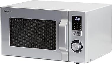Sharp R-744 S Plata microonda con Grill