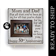 READY TO SHIP Anniversary Gift For Parents, 50th Anniversary Gift, For All That You Have Been To Us, Anniversary Frame, 16x16 THE SUGARED PLUMS