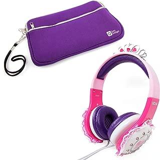 DURAGADGET Children's 'Princess' Tiara Headphones in Pink & Purple with Lace Detail for Archos 70 Copper, Archos 70b Xenon, Archos 70c Cobalt & Archos 70c Titanium + Bonus Purple Neoprene Tablet Case