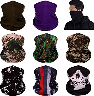 Neck Gaiter Bandana Headwear Face Mask Scarf Neck Tube Magic Headband Sports Fan Masks Breathable Ice Silk Mask