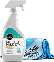 MB Stone Care MB 9 Mold & Mildew Remover - Removes Mildew Stains - Cleaner for Natural Stone - 32 oz - Premium Microfiber Cloth- Bundle - 2 Items