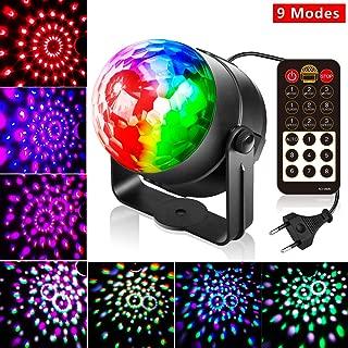 Led Discolicht Discokugel Kinder,10 Modi Led Partylicht Disco Lichteffekte Partybeleuchtung,Discokugel Led Party Lampe Disco licht Musikgesteuert mit Fernbedienung Beleuchtung für Party