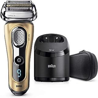 Braun Series 9 9299 cc Afeitadora Eléctrica Barba, Recortadora de Precisión Integrada, Máquina de Afeitar Recargable e Inalámbrica, Estación de Limpieza y Carga Clean&Charge y Funda Viaje, Regalo Oro