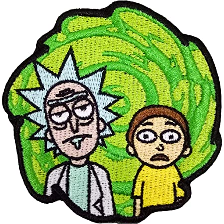 """Morty as Scream  IRON ON PATCH 2.75"""" Diameter Embroidered Rick an doubt Morty"""