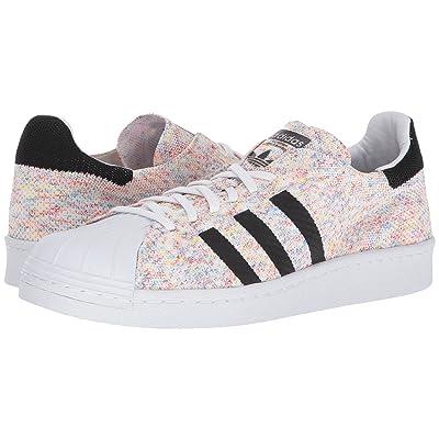 adidas Originals Superstar Retro 80s PrimeKnit (White/White/Black) Athletic Shoes