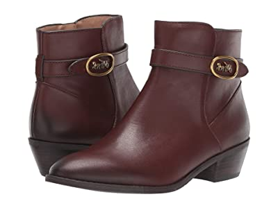 COACH Dylan Horse and Carriage Bootie (Walnut Leather) Women