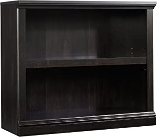 Sauder 2-Shelf Bookcase, Estate Black finish