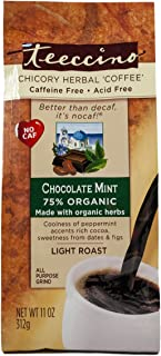 Teeccino Herbal Coffee, Mediterranean Chocolate Mint, Caffeine-Free, 11-Ounce Bags (Pack of 3)