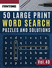 50 Large Print Word Search Puzzles and Solutions: FunTime Activity brain teasers Book | Wordsearch Easy Quiz Game for Adults (Find a Word and Circle ) (Word find puzzle books for adults)