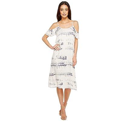 Michael Stars Shibori Print Flounce Sleeve Slip Dress (Sweet Lilac) Women