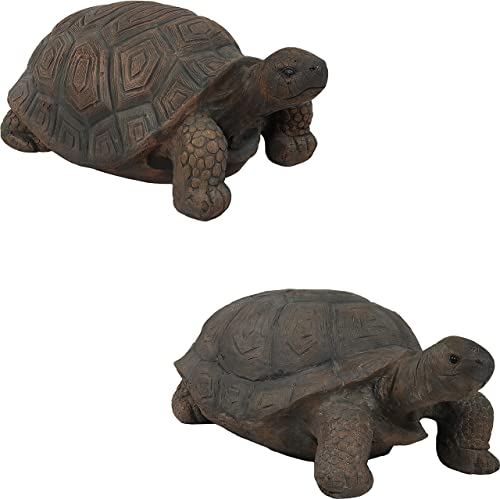 high quality Sunnydaze 30-Inch Long Todd The Tortoise and 20-Inch Long Tanya outlet online sale The Tortoise Large Indoor/Outdoor popular Garden Statues Bundle sale