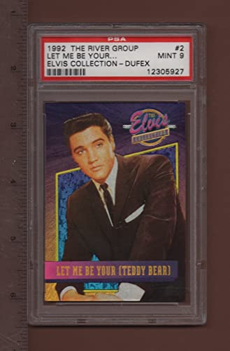 2 Let Me Be Your (Teddy Bear) - 1992 The Elvis Collection Dufex Card PSA rated MINT 9