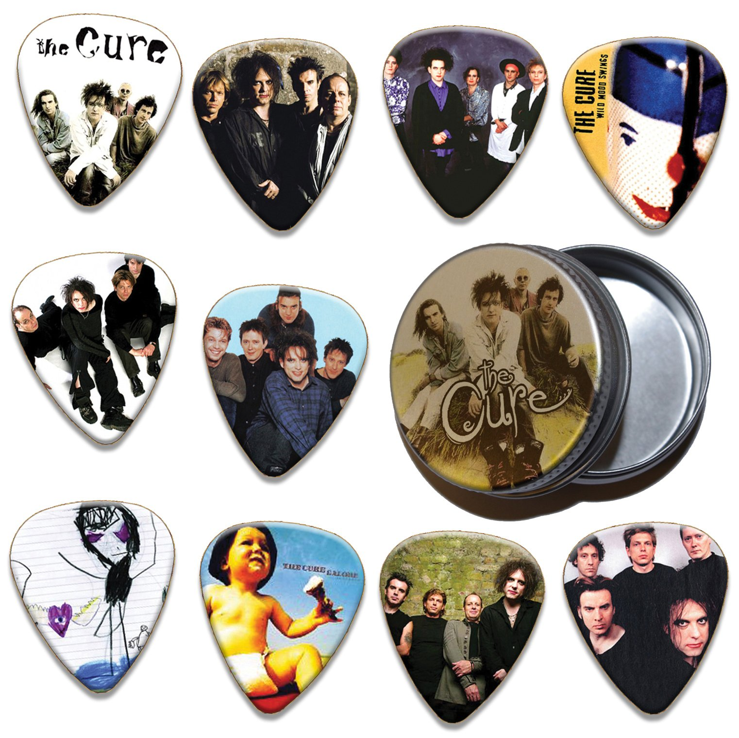 Limited To 100 Cure 10 X Guitar Picks /& Tin