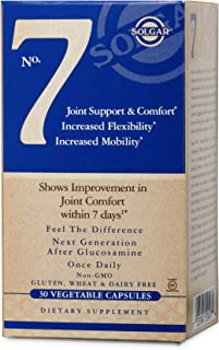 Solgar No. 7, 30 Vegetable Capsules - Joint Support & Comfort - Increased Mobility & Flexibility - Supplement for Men & Wo...