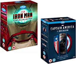 Iron Man 1-3 (Complete Collection Box-Set) - Captain America 1-3 (Complete Collection Box-Set) - Marvel 6 Movie Bundling B...