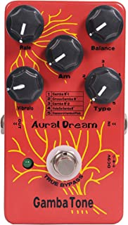 Aural Dream Gamba Tone Synthesizer Guitar Effects Pedal based on organ includes Gamba 8',Diapason&Gamba&Flute,Gross Gamba 8'and Viola Da Gamba 8'with Vibrato and Swell module,True bypass.
