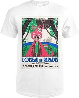 L'Oiseau de Paradis Vintage Poster (artist: Lancy) France c. 1932 58717 (Premium White T-Shirt Large)
