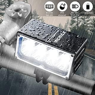 VICMAX Led Bicycle Light A8 7200 Lumens 8Pcs x Cree XM-L2 U2, with Waterproof Box IPX-6 Water proofing