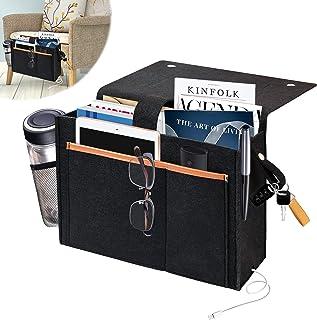 T-SIGN Felt Bedside Organizer Caddy, Bedside Hanging Bag Pocket, Loft Bed Side Night Accessories for Home Bunk, Sofa, Couc...