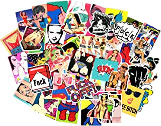Sexy Stickers Decals Vinyl Art Work Vintage Retro Stickers For Bumper Guitar Decals Phone Case Luggage Skateboard (52pcs Sexy Stickers)