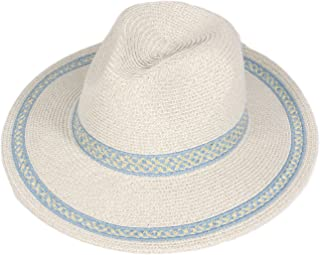 SERENITA Summer Sun hat, Fedora Panaman, Paper Straw, for Woment, 1920s Panama Jazz Visor